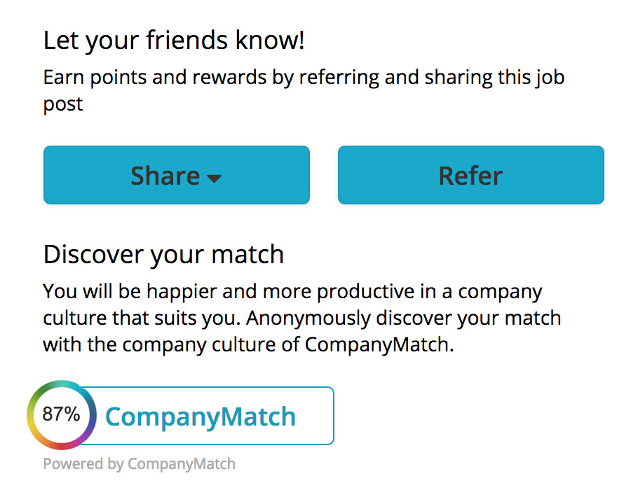 CompanyMatch and Firstbird